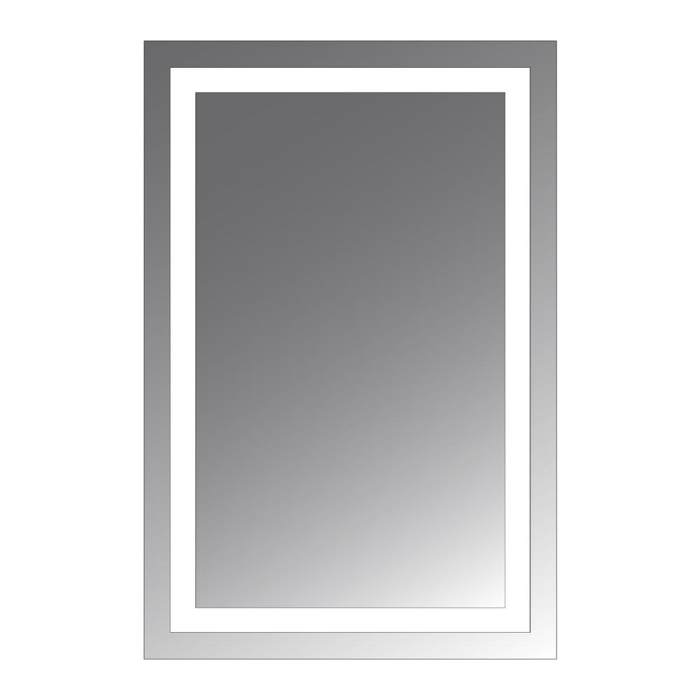 Malisa 30 In L X 22 In W Led Lighted Mirror Medicine Cabinet Cvma3220mc Mirror With Lights Lighted Wall Mirror Medicine Cabinet Mirror