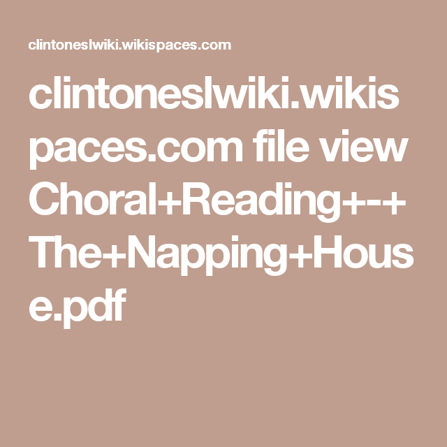 Pdf the napping house