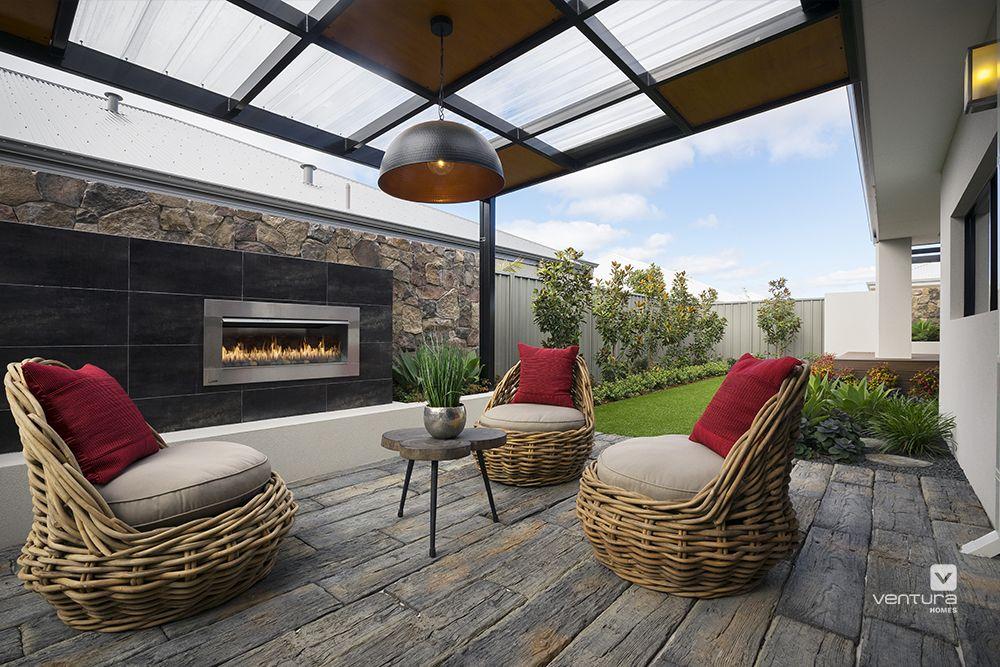 Alfresco patio backyard design the macquarie display home for Pool design ventura