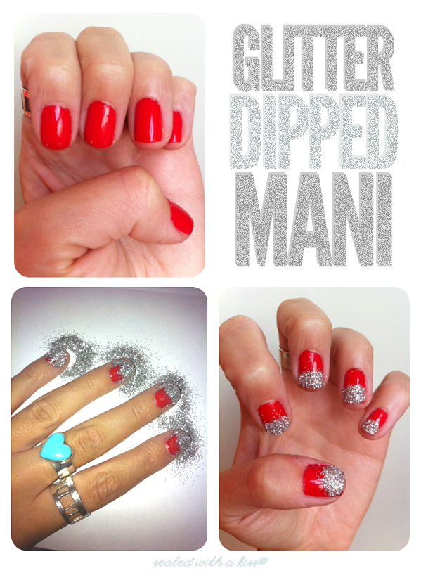 12 Simple And Easy Nail Tutorials Fashion Diva Design Simple Nails Red Nails Glitter Nail Art Diy