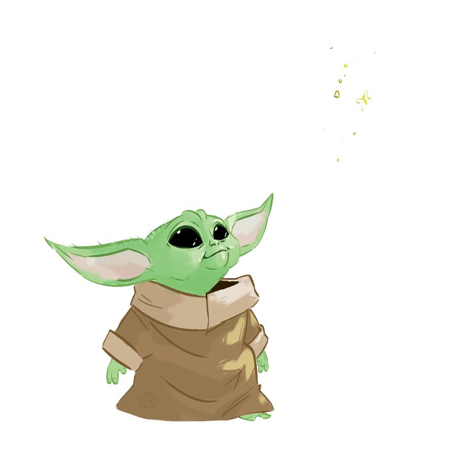 Baby Yoda By Lelpel On Deviantart Yoda Art Yoda Drawing Cute Cartoon Wallpapers
