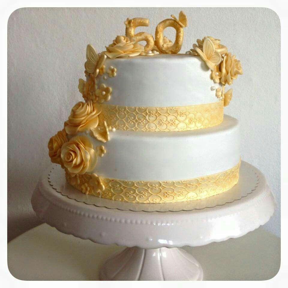 Pin von corinna steinhausen auf kuchen pinterest for Goldene hochzeit deko ideen