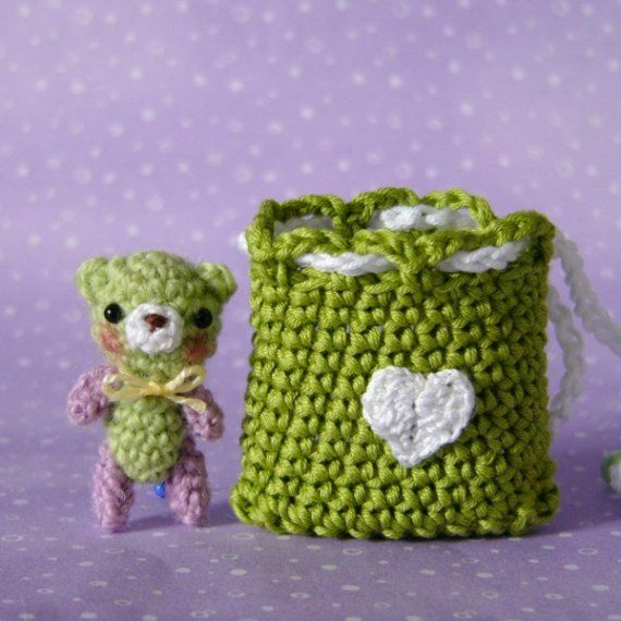 Amigurumi Miniature Crocheted Bear | Amigurumi | Pinterest