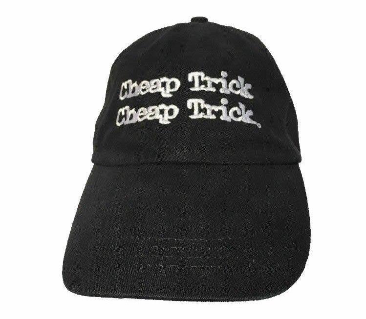 Cheap Trick Double Logo Embroidered Black Hat Cap Anvil 100% Cotton  Adjustable  Anvil  BaseballCap 347e6a860d5