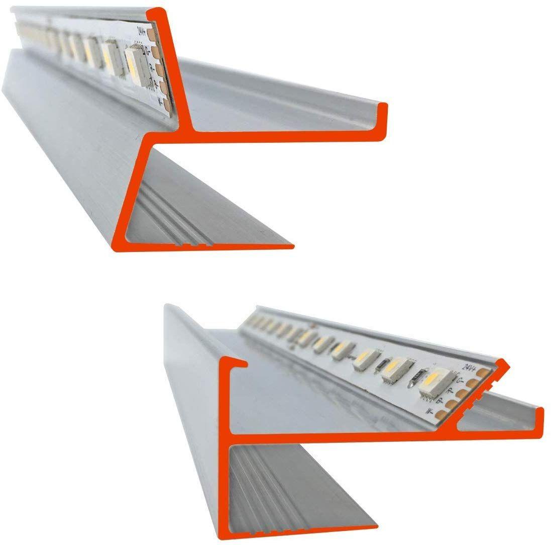 Iluminize Led Trockenbau Profile Musterstucke Set Bestehend Aus 1 X Lichtvoute Vt 30 Cm Lang 1 X Schattenfuge Sf Trockenbau Led Profil Trockenbau Profile