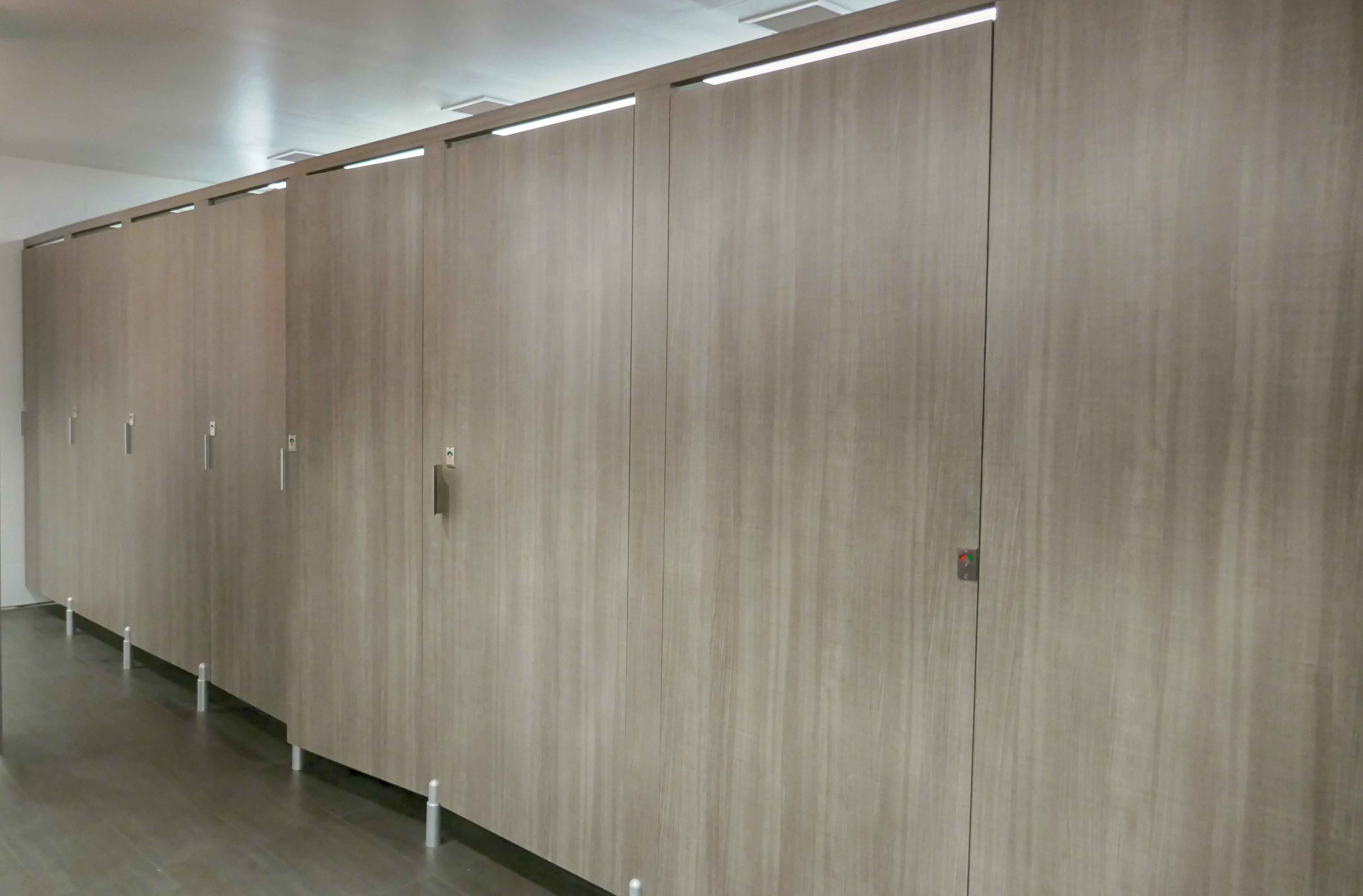Ironwood Manufacturing laminate toilet partition and bathroom doors with Door Lite insert. Beautiful unique & Ironwood Manufacturing laminate toilet partition and bathroom doors ...