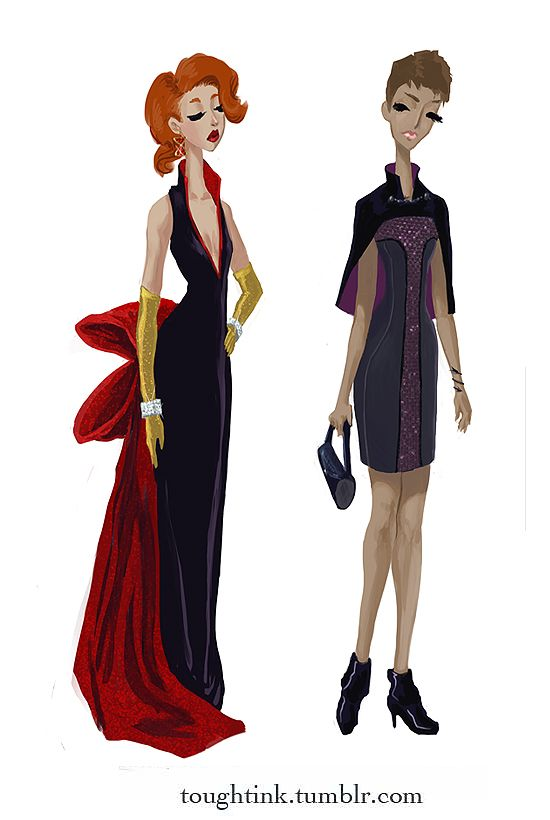 Avengers Gowns: Black Widow and Hawkeye by Kelsey Michele Soderstrom ...
