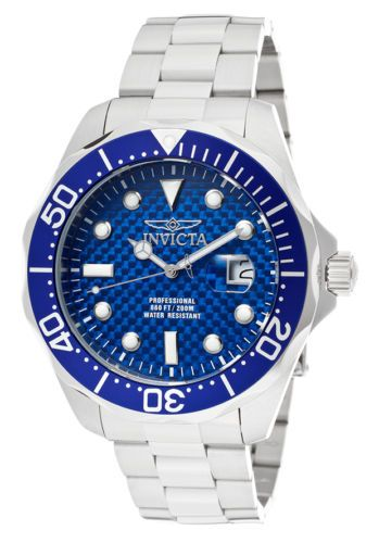 Invicta Men's 12563 Pro Diver Stainless Steel Blue Carbon Fiber Dial Watch in Jewelry & Watches, Watches, Parts & Accessories, Wristwatches | eBay