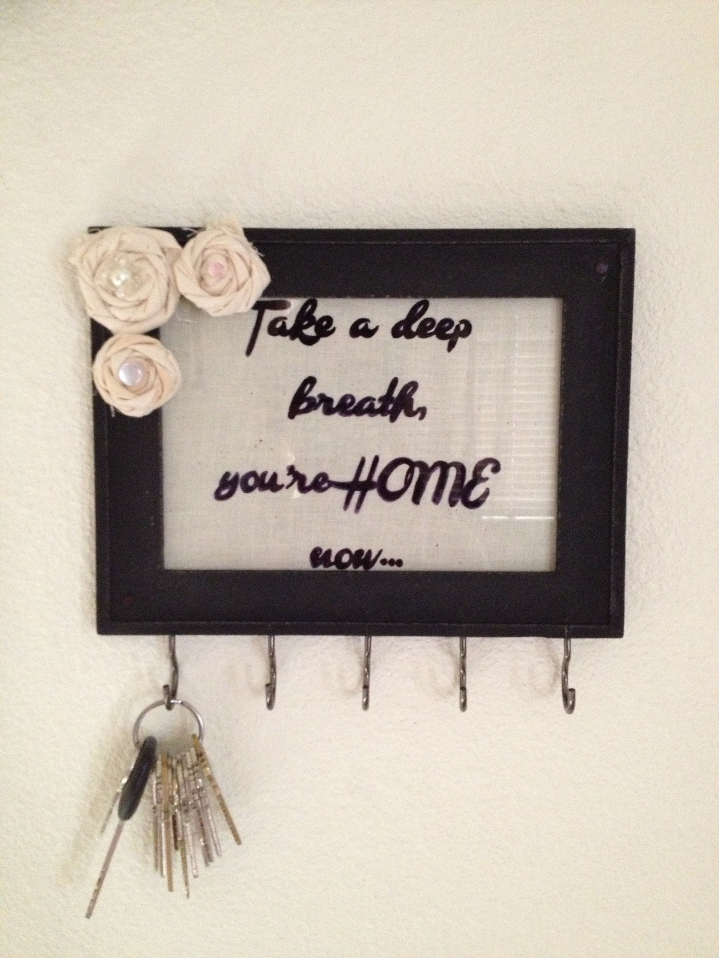 Diy Key Holder Would Be Cute As A Dry Erase Quote Board With A
