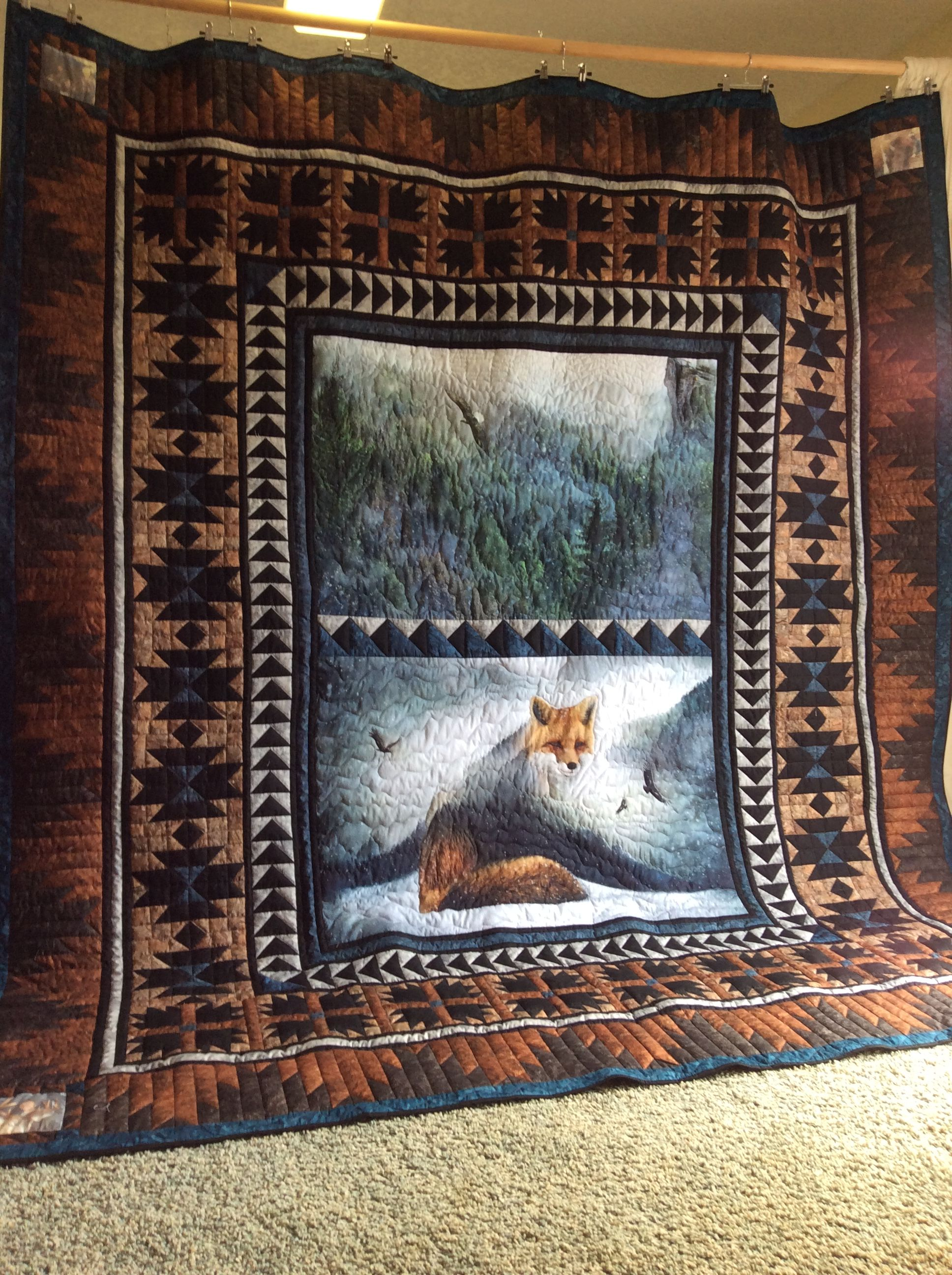 My King Size Call Of The Wild Fox Quilt Quilts Fabric