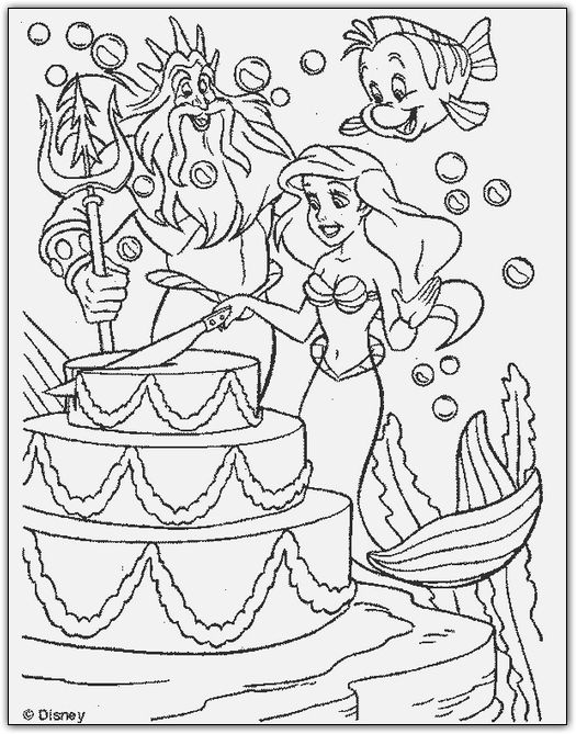 Mermaid Page Coloring Pages Birthday Rhpinterest: Ariel Birthday Coloring Pages At Baymontmadison.com