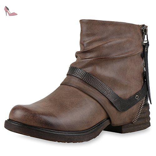 Marron Motardes Kaki Bottes 37 Japado Chaussures Femme OH0nq