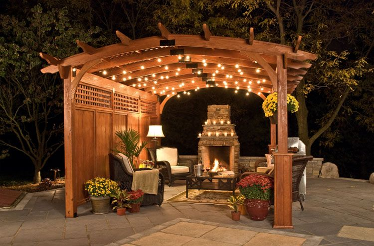 Another great example of a curved roof pergola. - Another Great Example Of A Curved Roof Pergola. Concepts And