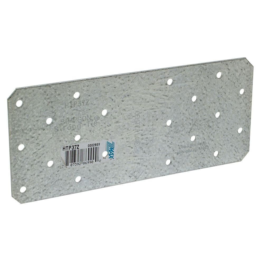 Simpson Strong Tie Htp 3 In X 7 In Zmax Galvanized Heavy Tie Plate Htp37z The Home Depot Galvanized Wood Tie Diy Headboard