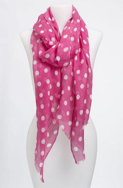 80c13e06e7e2 Lauren By Ralph Lauren Pink Anna Polka Dot Scarf