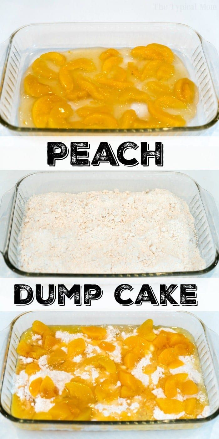 This dump peach cobbler requires just 4 ingredients & topped with vanilla ice cream it is the warm dessert you've been dreaming about. Dump cake perfection!
