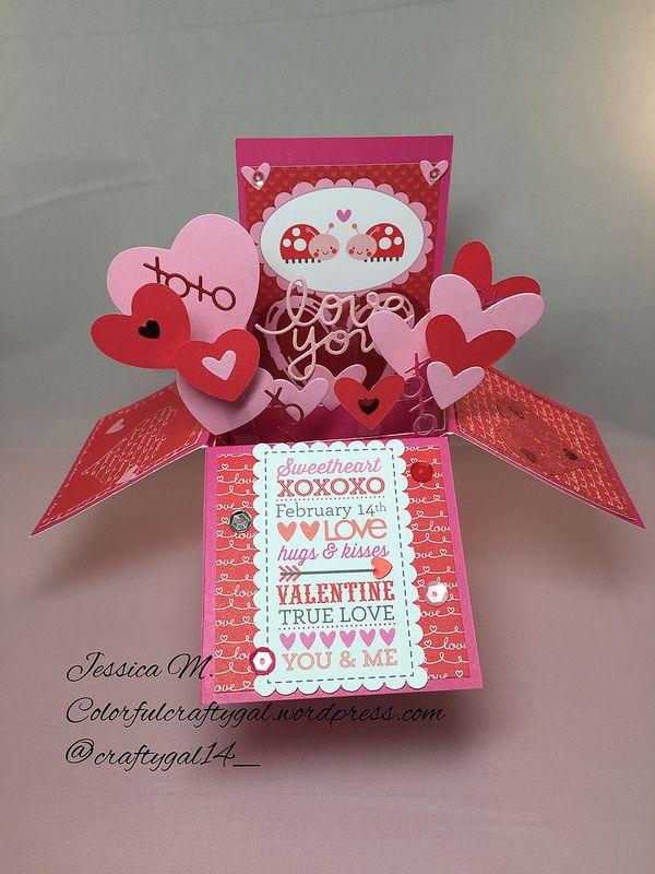 Box Valentine Card Valentine Love Cards Valentine Day Cards