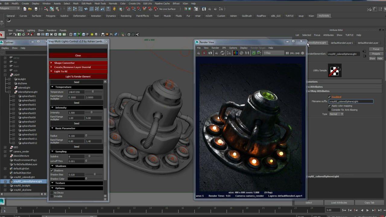 Scripts - VRay MultiLightControl | CGI MAYA | Script, Maya
