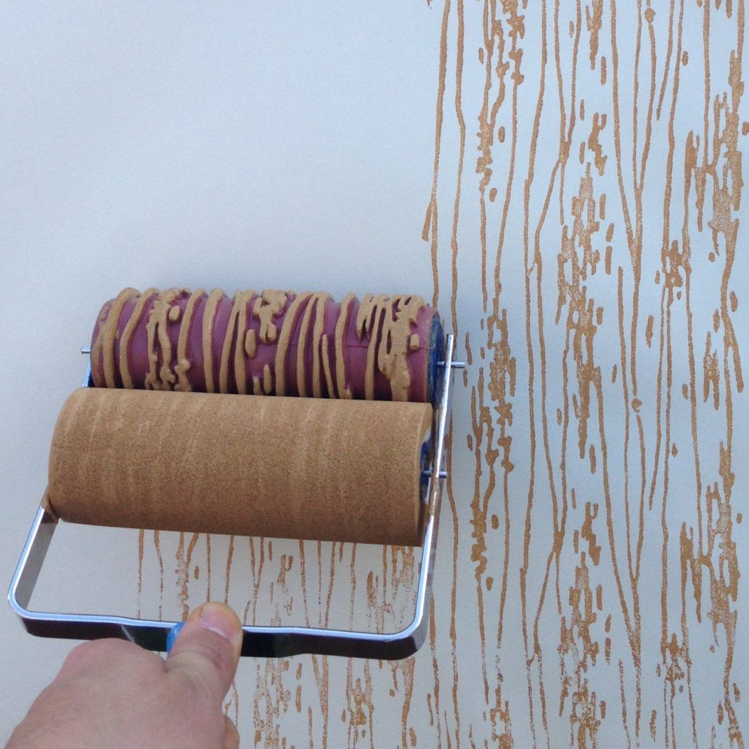 Wall Design Paint Roller : Wood grain patterned paint roller creates a beautiful