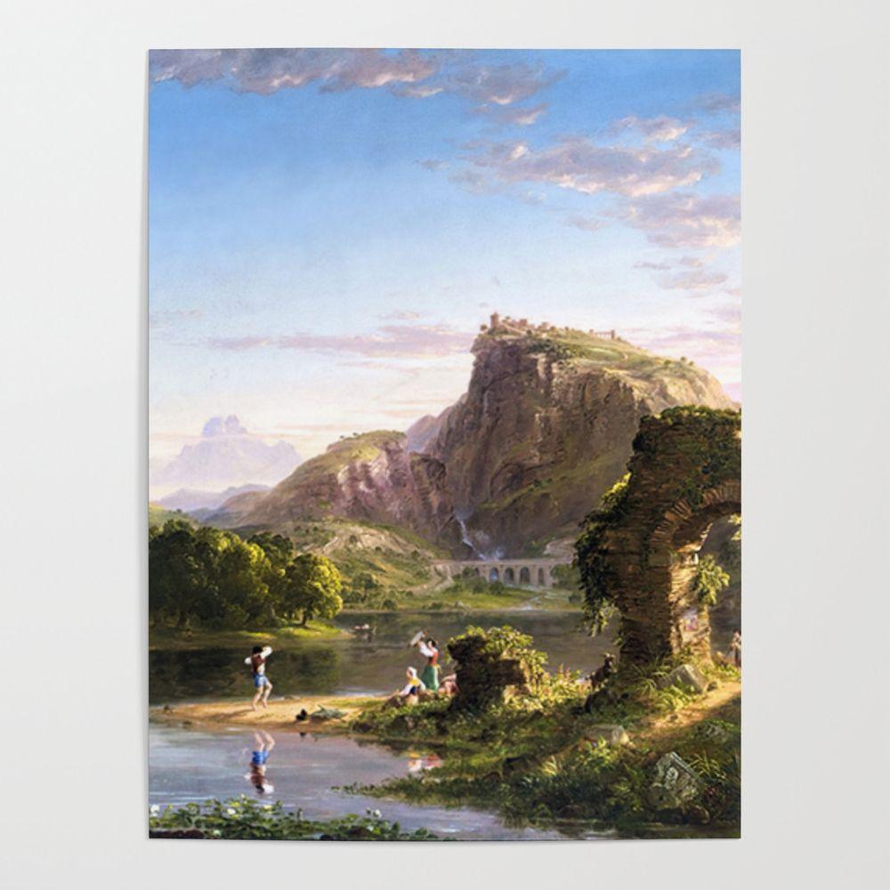 Shop Art Online L Allegro Italian Pastoral Landscape By Thomas Col Abstract Art Gallery Poster Art Art