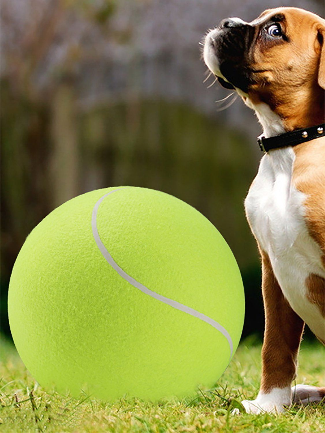 9 4 Inch Tennis Ball Signature Signal Mega Jumbo Larger Pets Toys Dogs Outdoor Sports Cricket One Size Yellow Mor Dog Toys Dog Toy Ball