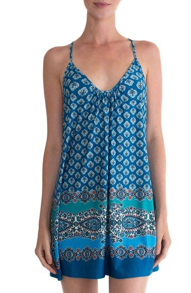 In Bloom by Jonquil Crochet Racerback Print Chemise available at #Nordstrom