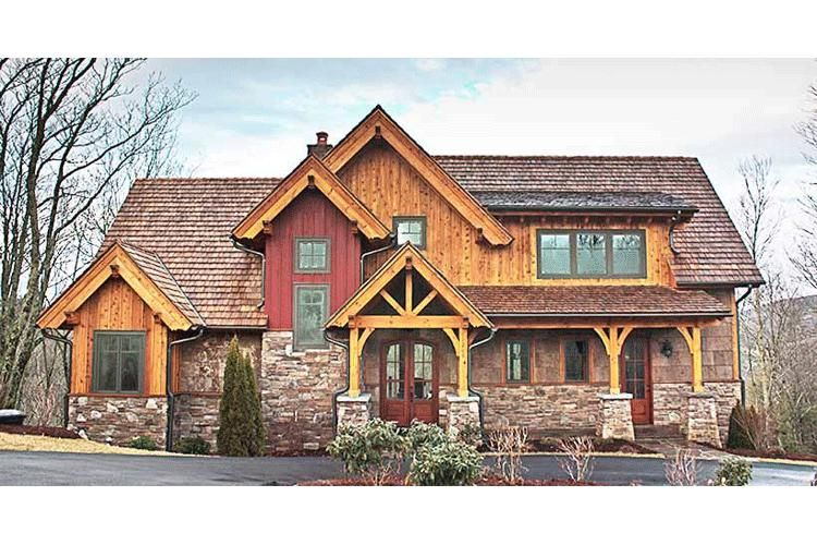 Mountain Rustic Plan: 2,379 Square Feet, 3 Bedrooms, 2.5 Bathrooms on