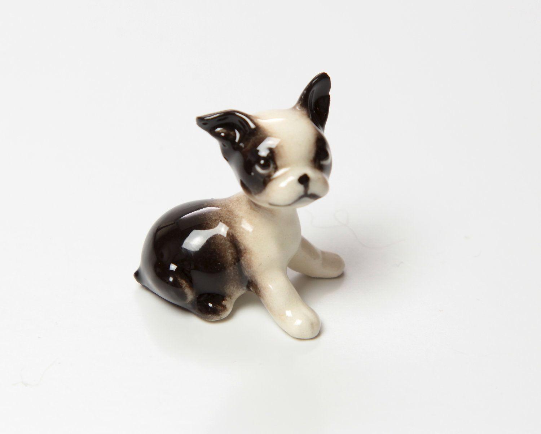 Boston Terrier Puppy Sitting Figurine Ceramic Hagen Etsy Boston Terrier Puppy Boston Terrier Dog Puppy Sitting
