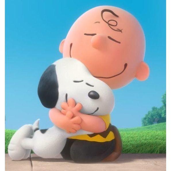 Resultado de imagem para Charlie Brown abraçando snoopy