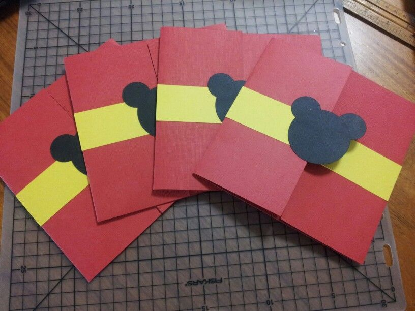 DIY mickey mouse invitations! | Gabriel\'s second birthday ...