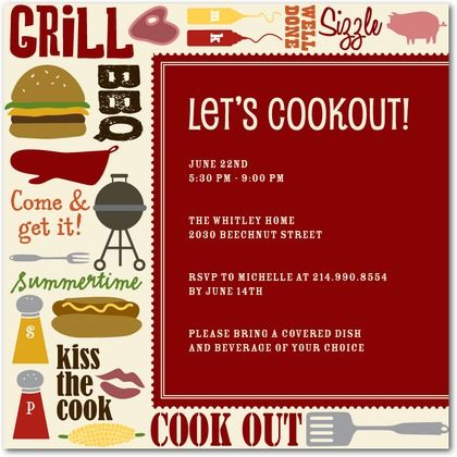 Summer party invitations 4th of july bbq cookout party ideas summer party invitations 4th of july bbq cookout pronofoot35fo Images