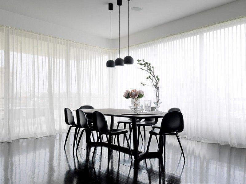 Wunderbar Ideen Gardinen Modern Weiss Esszimmer Design