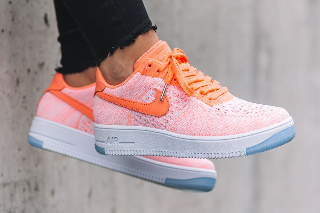air force 1 flyknit pink