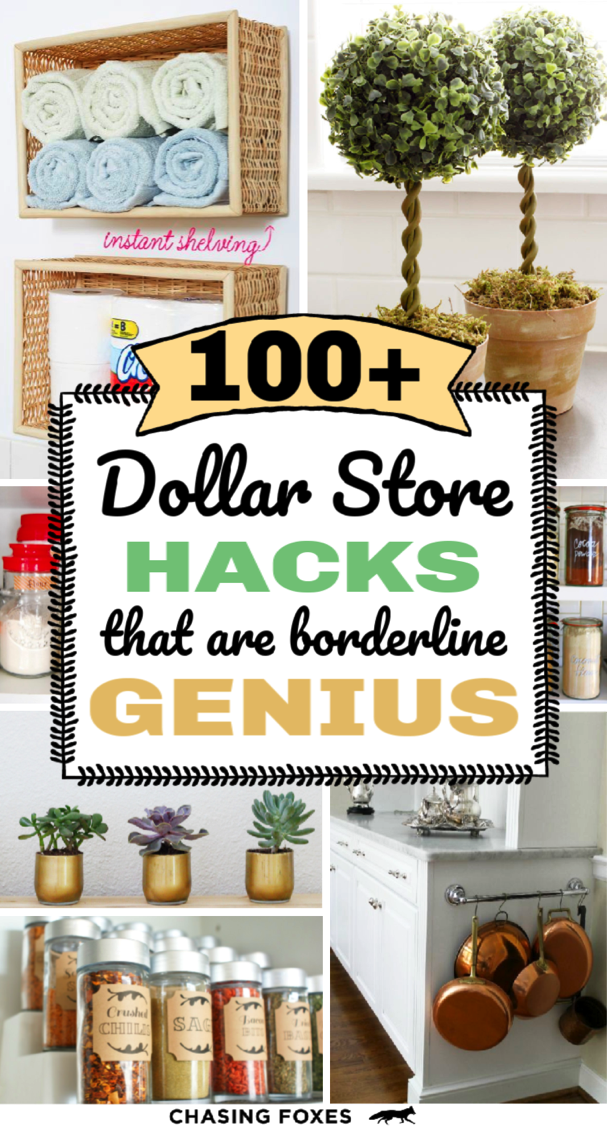 100+ DIY Dollar Store Hacks