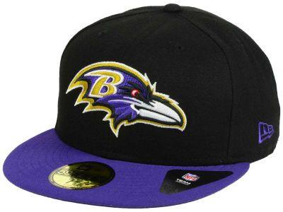 4dc4ba3030e Baltimore Ravens New Era NFL Black Team 59FIFTY Cap
