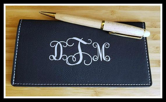 Personalized Vegan Leather Checkbook Cover, Faux, Personalized - new letter format for request to cheque book