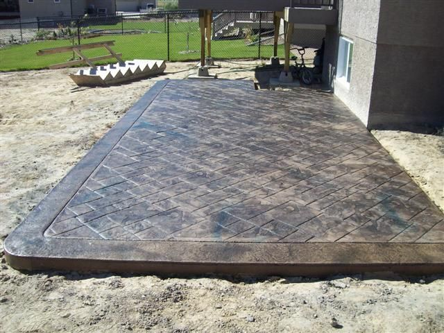 stamped patio Patio Pinterest Blue highlights Acid stain and