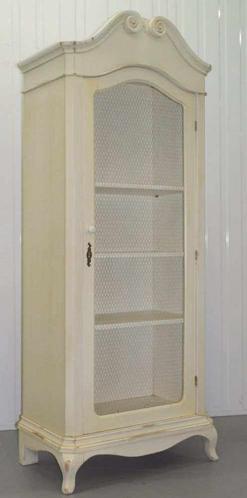 LAURA ASHLEY SHABBY CHIC DISPLAY CABINET BOOKCASE SHABBY CHIC ...