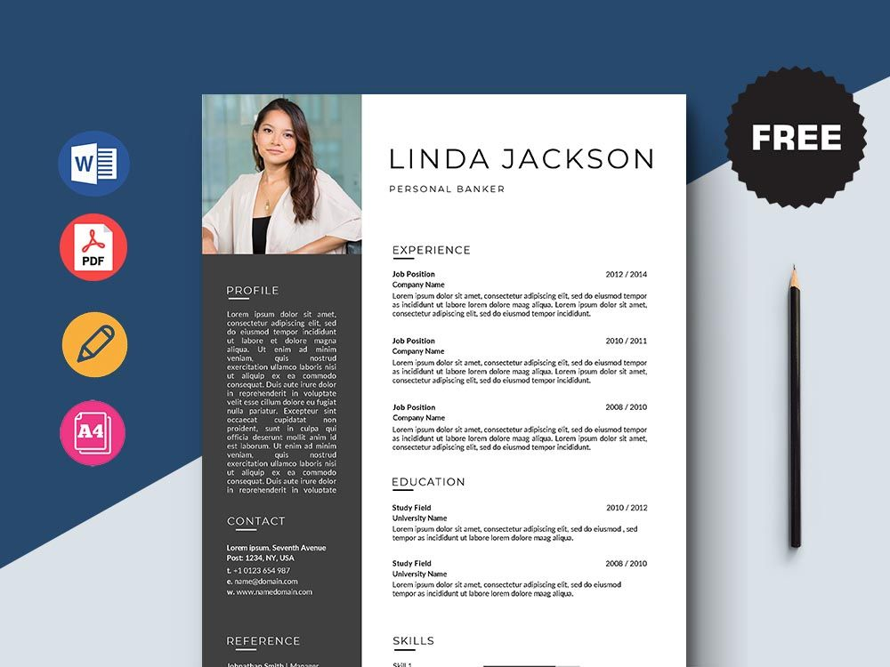 Free personal banker resume template in 2020 resume