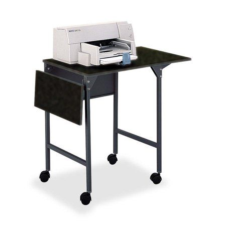 Safco Saf1876bl Drop Leaves Machine Stand 1 Each Black Size 36 Inch Multicolor Printer Stand Mobile Printer Home Office Uk