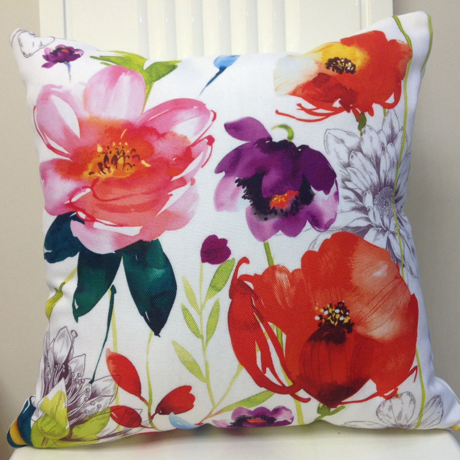 Pillows Pillow Covers Watercolor Floral Pillow Cover Decorative
