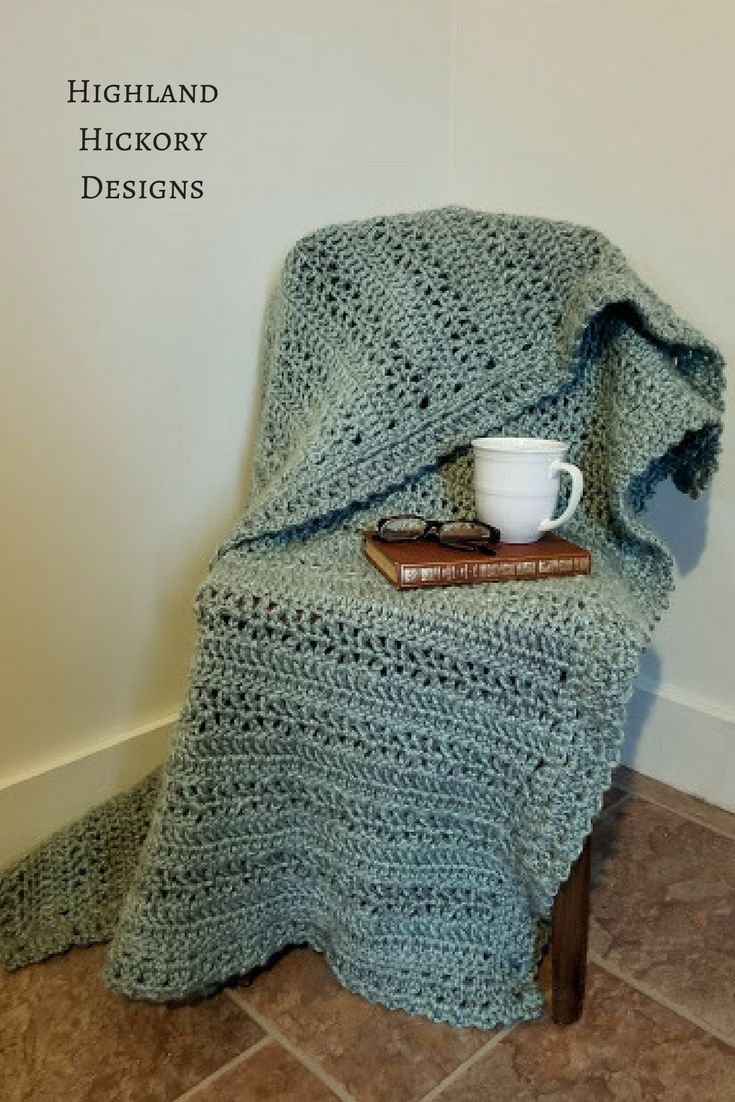 Contemporáneo Patrón De Rizo Doble Crochet Ornamento - Manta de ...
