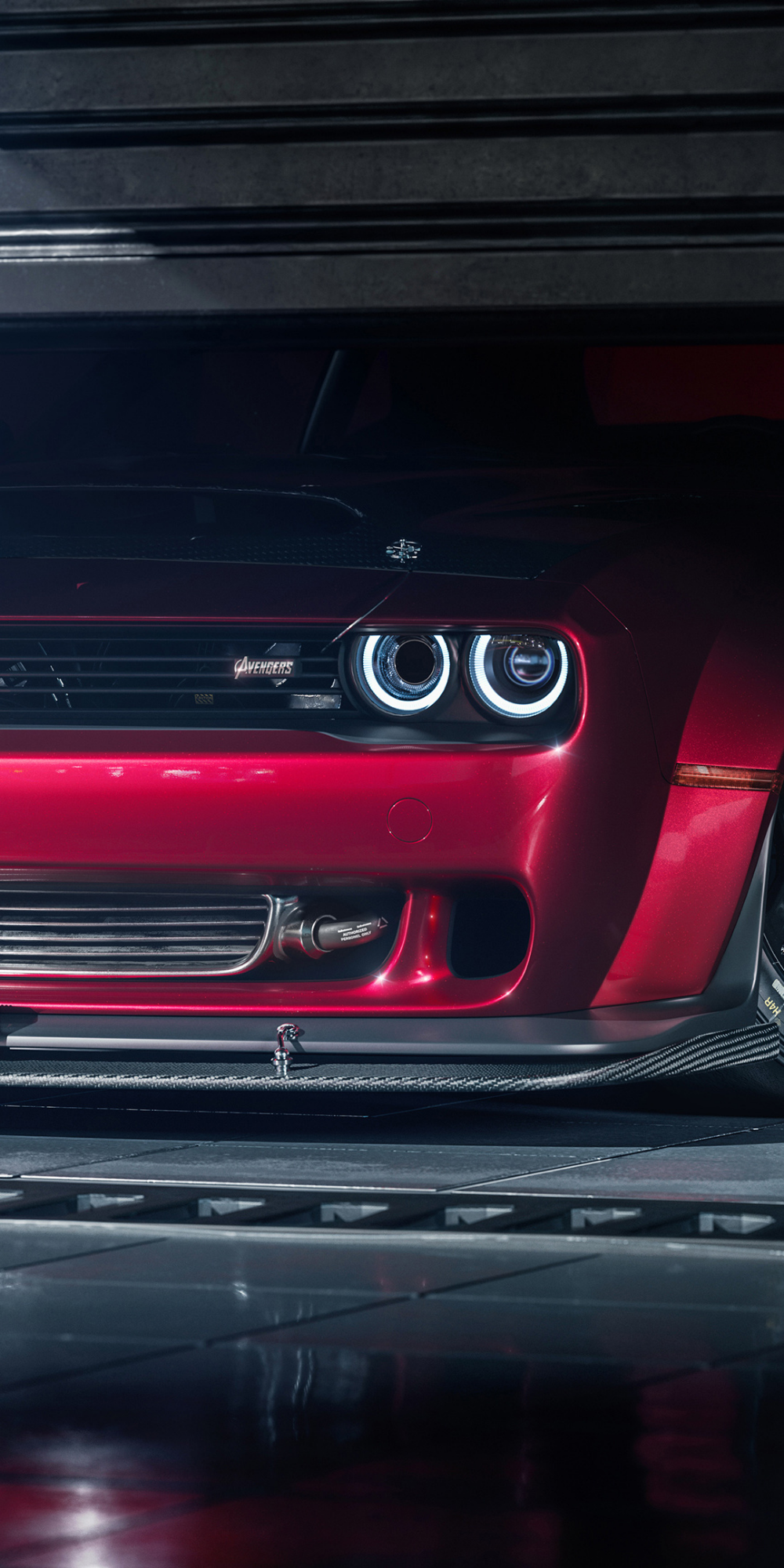 1080x2160 Dodge Challenger SRT demon, frontview wallpaper
