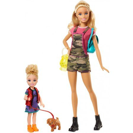 Barbie Camping Fun Doll & Chelsea Sister with Accessories - Walmart.com