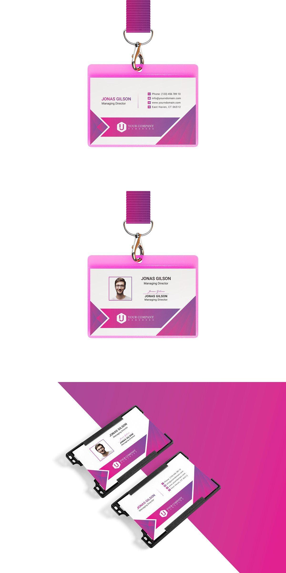 Id Card Landscape Templates Templates Corporate Id Card Templates