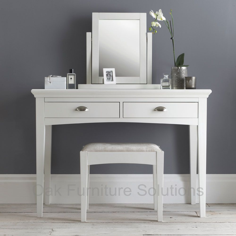 Hampstead white dressing table dressing furniture and for Bedroom dressing table