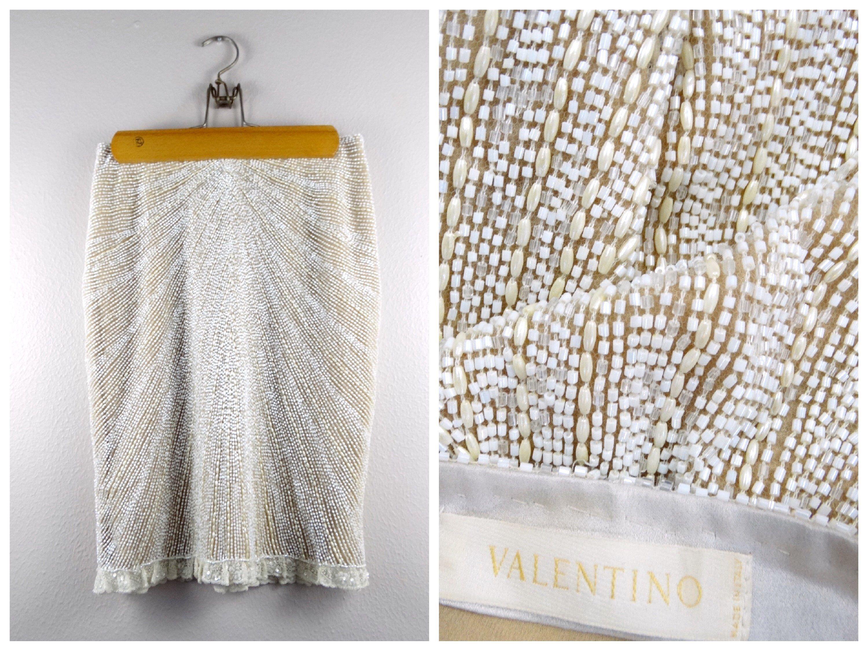 Ivory Beaded Skirts