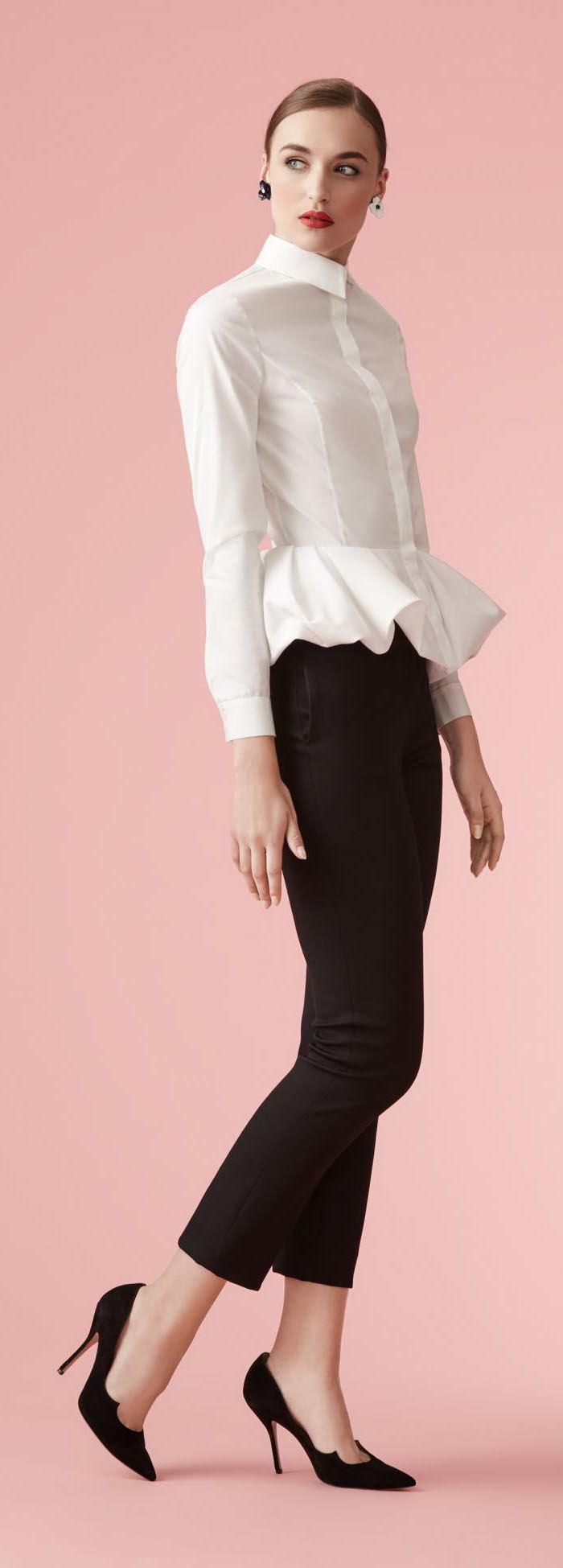 Resultado de imagen para blusas blancas carolina herrera | clothes ...