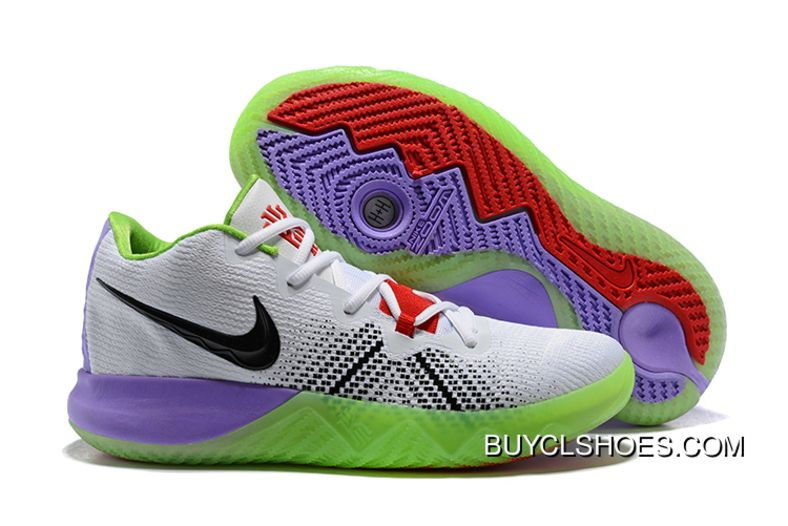 26944a60bc0d New Release Men S Nike Kyrie Flytrap White Black Red Purple Green Shoes