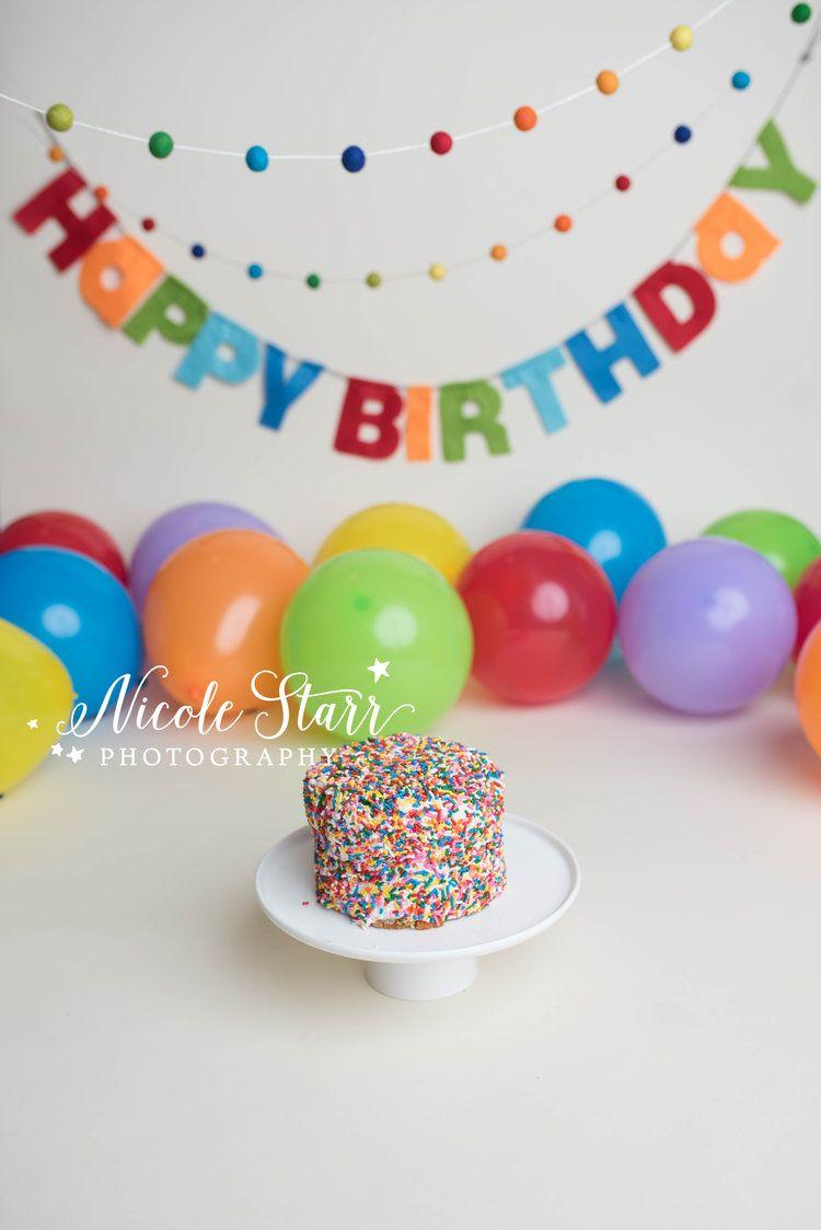 A Rainbow Cake Smash for Lucas  |  Boston Cake Sma